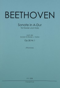 VV 208 • BEETHOVEN - Sonate nach op. 30, Nr. 1 in A-dur